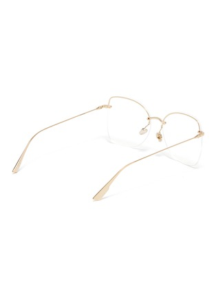 Figure View - Click To Enlarge - DIOR - 'Stellaire' rimless metal cat eye optical glasses