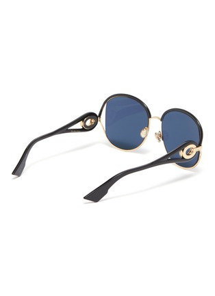 Figure View - Click To Enlarge - DIOR - 'Dior New Volute' cutout metal rim acetate round sunglasses