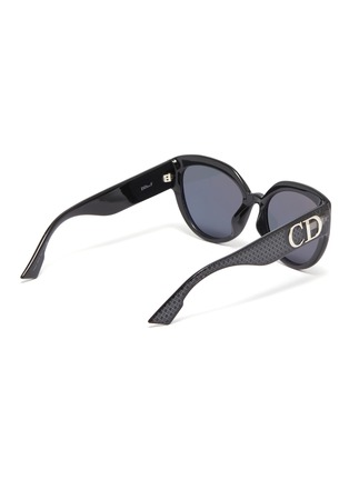 Figure View - Click To Enlarge - DIOR - 'Ddiorf' Cannage print acetate cat eye sunglasses