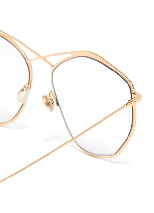 Detail View - Click To Enlarge - DIOR - 'Dior Stellaire 4' mirror metal oversized geometric frame sunglasses