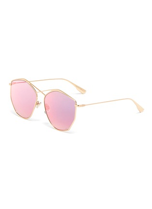 Main View - Click To Enlarge - DIOR - 'Dior Stellaire 4' mirror metal oversized geometric frame sunglasses