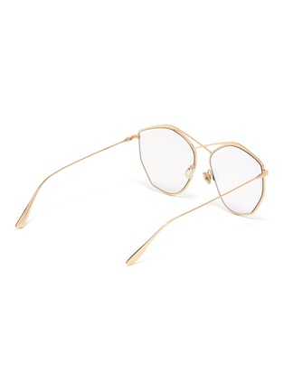 Figure View - Click To Enlarge - DIOR - 'Dior Stellaire 4' mirror metal oversized geometric frame sunglasses