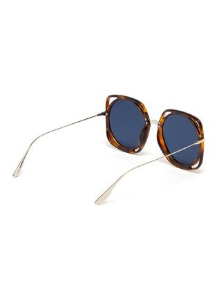 Figure View - Click To Enlarge - DIOR - 'Dior Direction' cutout acetate rim metal geometric frame sunglasses