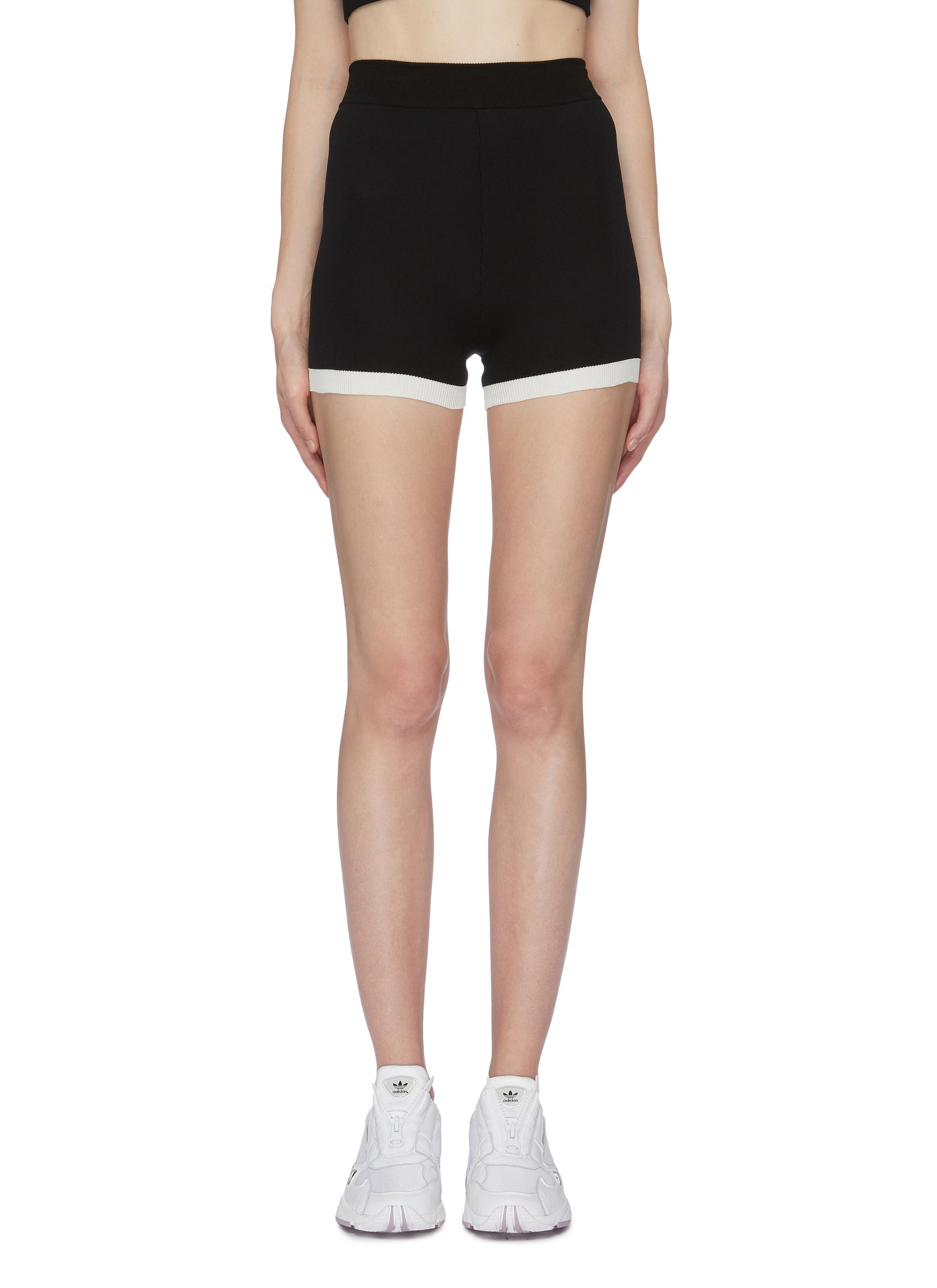 Yoni contrast cuff performance shorts by Nagnata
