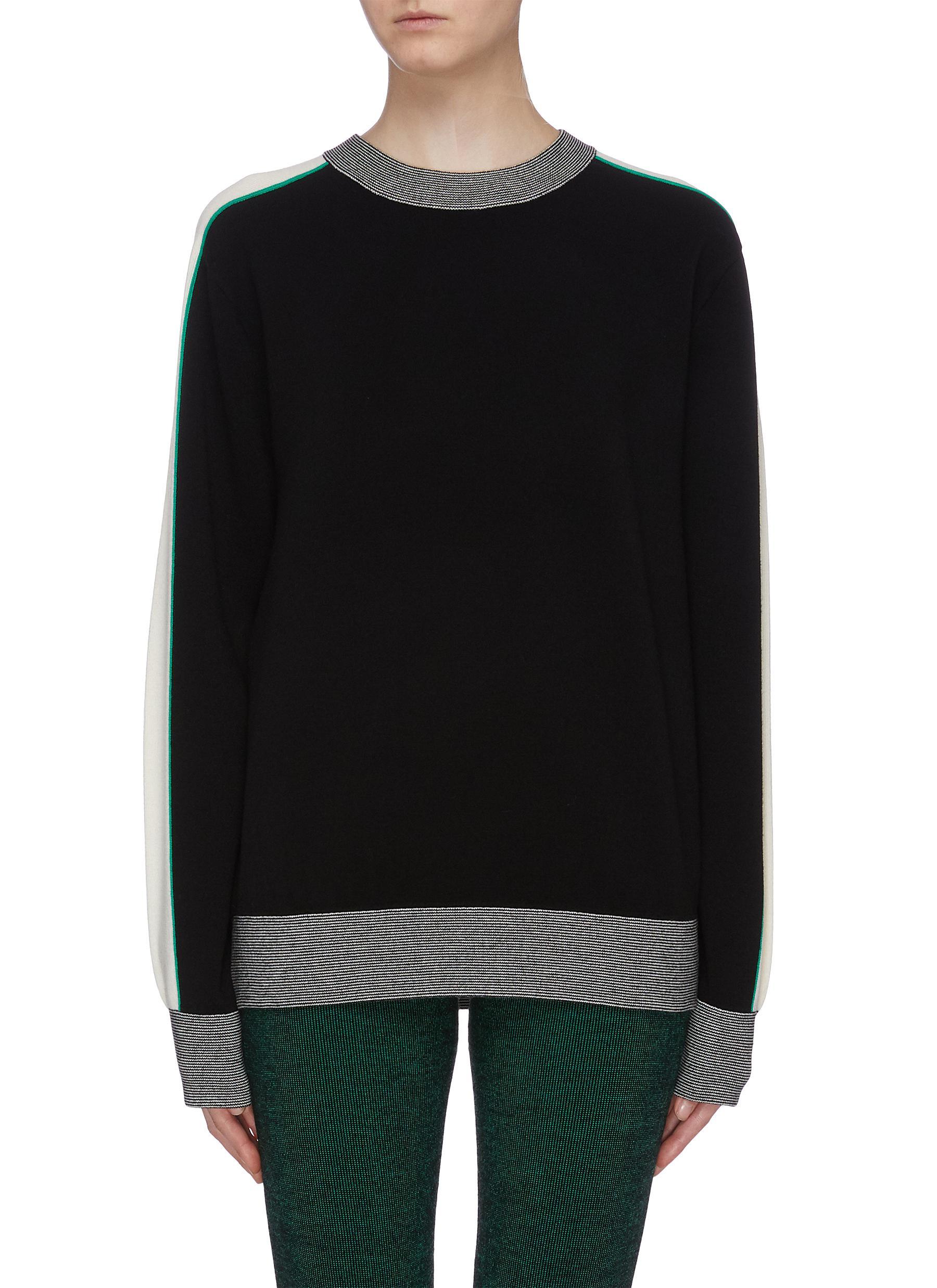 Stripe sleeve sweater by Nagnata