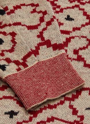 - TOGA ARCHIVES - Contrast waist floral jacquard turtleneck sweater