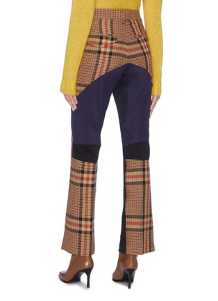 Back View - Click To Enlarge - TOGA ARCHIVES - Colourblock wool check plaid pants