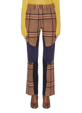 Main View - Click To Enlarge - TOGA ARCHIVES - Colourblock wool check plaid pants