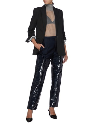 Figure View - Click To Enlarge - TOGA ARCHIVES - Panelled wool lament pants