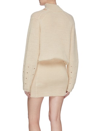 Back View - Click To Enlarge - TOGA ARCHIVES - Strass trim wrap neck sweater