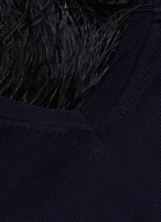 - TOGA ARCHIVES - Feather fringe edge sweater