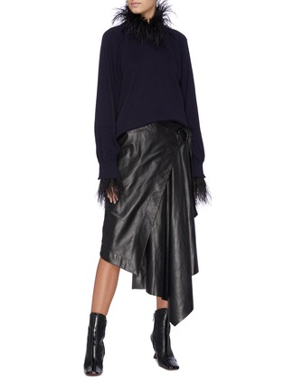 Figure View - Click To Enlarge - TOGA ARCHIVES - Feather fringe edge sweater