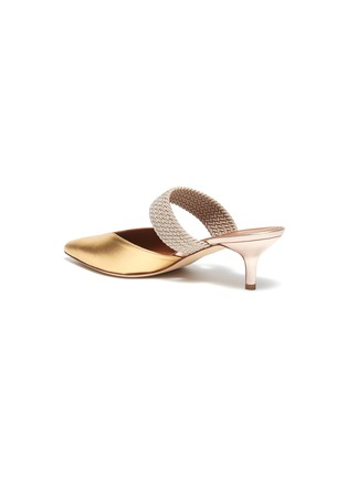 - MALONE SOULIERS - 'Maisie' braided band metallic leather mules