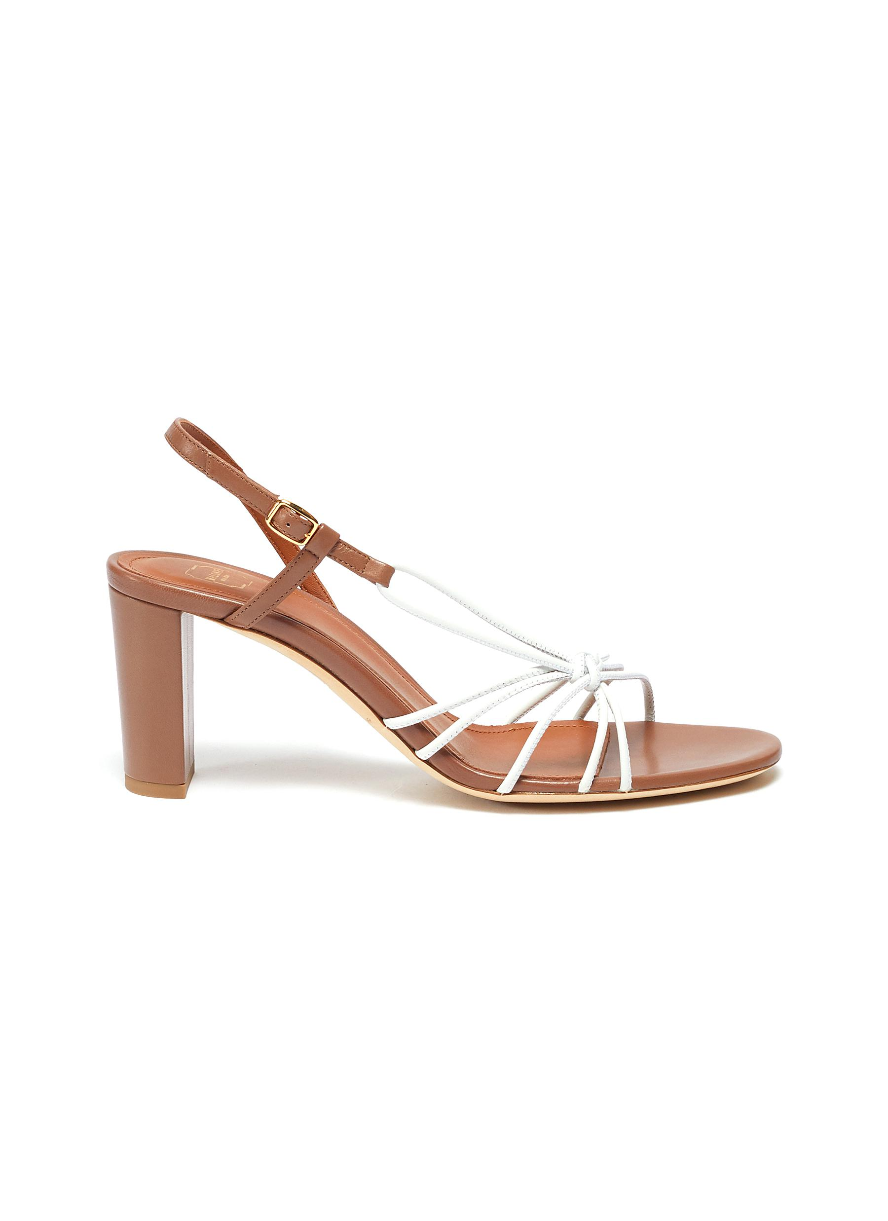Binette knotted strappy slingback leather sandals by Malone Souliers
