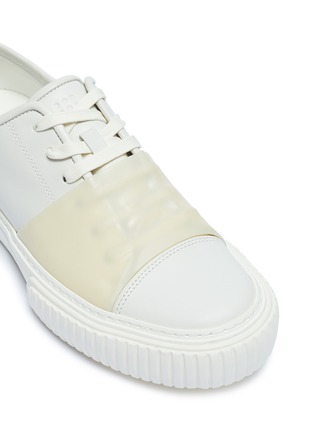 Detail View - Click To Enlarge - BOTH - 'Pre-Tec' rubber panel leather sneakers