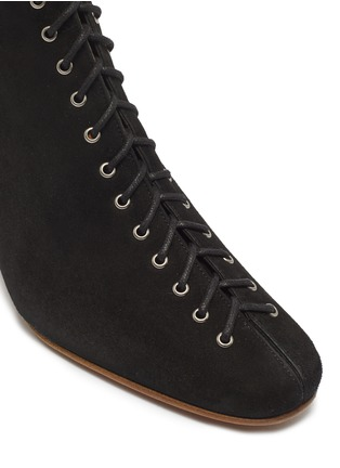 Detail View - Click To Enlarge - BY FAR - 'Becca' lace-up suede ankle boots