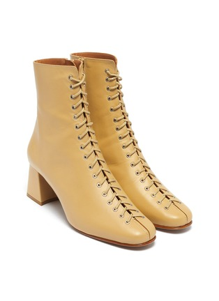 Detail View - Click To Enlarge - BY FAR - 'Becca' lace-up leather ankle boots