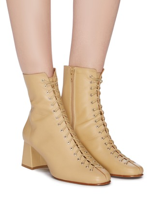 Figure View - Click To Enlarge - BY FAR - 'Becca' lace-up leather ankle boots