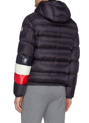 Back View - Click To Enlarge - MONCLER - 'Willm' stripe sleeve hooded down puffer jacket
