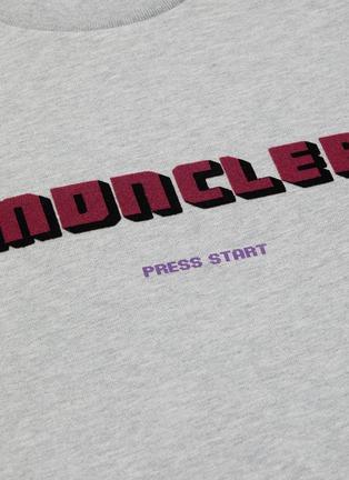 - MONCLER - Logo velvet flock print sweatshirt