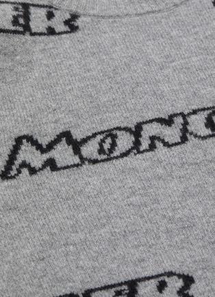 - MONCLER - Logo intarsia virgin wool blend sweater