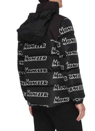 f6eeed700 'Faiveley' logo print hooded down puffer jacket