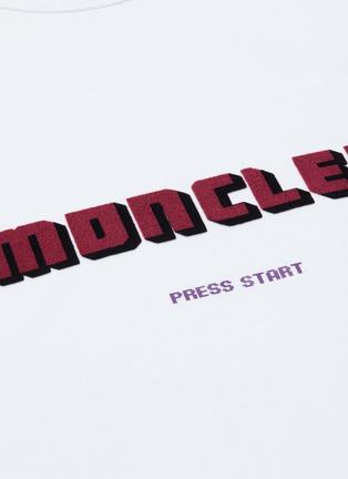 - MONCLER - Logo velvet flock print T-shirt