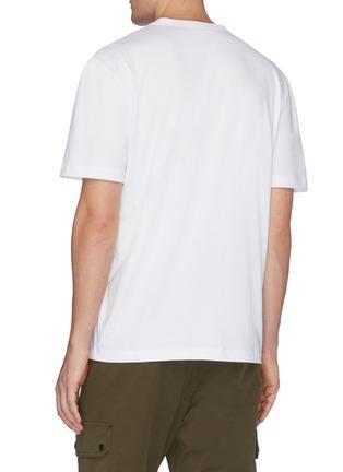 Back View - Click To Enlarge - MONCLER - Logo velvet flock print T-shirt
