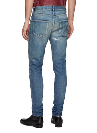 Back View - Click To Enlarge - SAINT LAURENT - Ripped skinny fit jeans