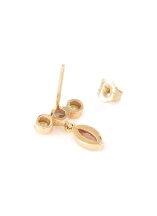 Detail View - Click To Enlarge - XIAO WANG - 'Gravity' diamond opal 14k yellow gold drop earrings