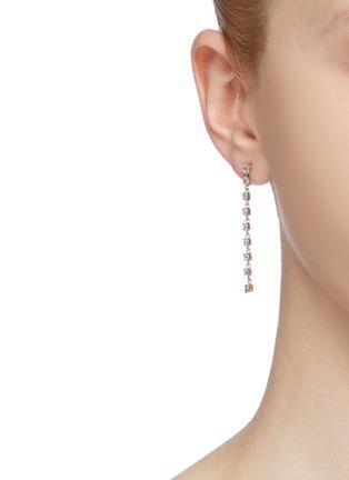 Figure View - Click To Enlarge - XIAO WANG - 'Galaxy' diamond 18k gold link drop earrings