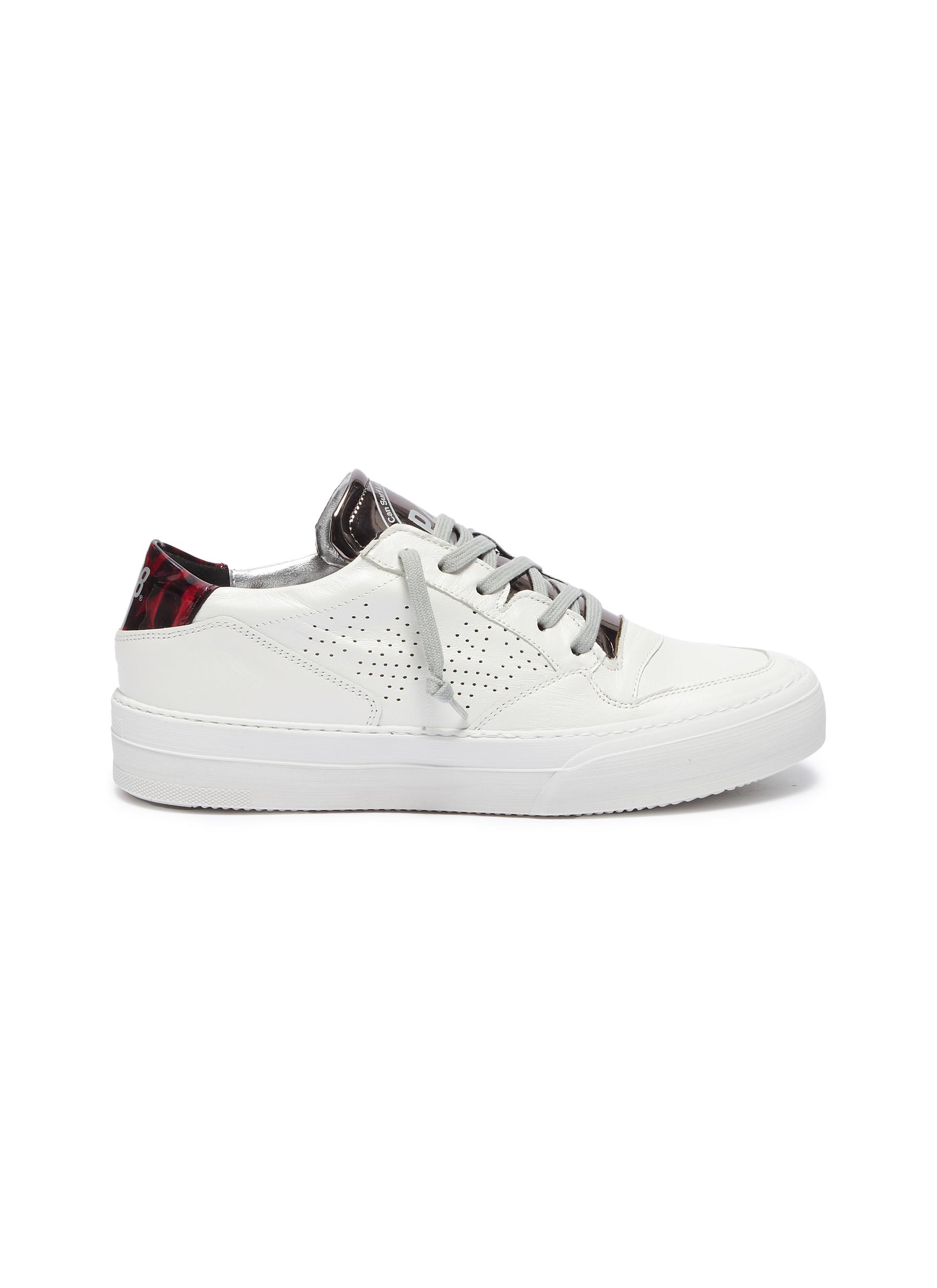 Space panelled leather sneakers by P448