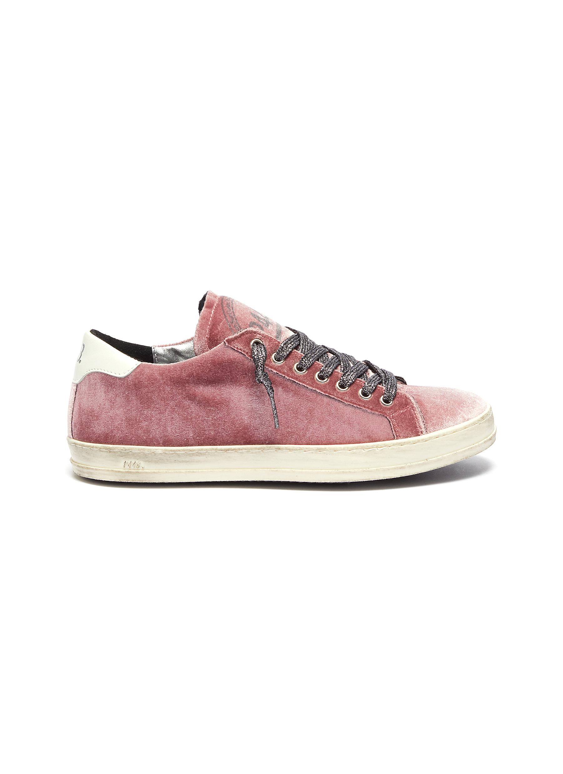 John colourblock panelled velvet sneakers by P448
