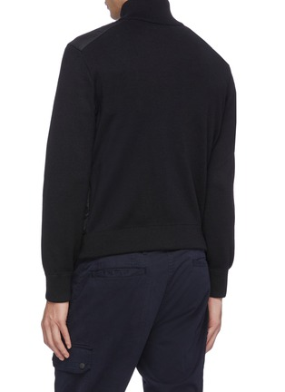 Back View - Click To Enlarge - MONCLER - Down puffer front knit jacket