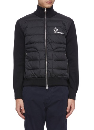 Main View - Click To Enlarge - MONCLER - Down puffer front knit jacket