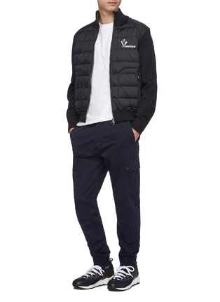 Figure View - Click To Enlarge - MONCLER - Down puffer front knit jacket