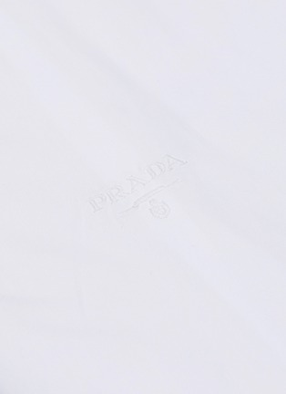 - PRADA - Logo embroidered slim fit shirt
