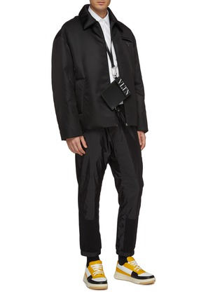 Figure View - Click To Enlarge - PRADA - Logo embroidered slim fit shirt