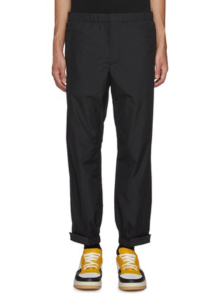 Main View - Click To Enlarge - PRADA - Detachable logo patch jogging pants