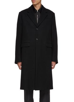 Main View - Click To Enlarge - PRADA - Wool melton coat