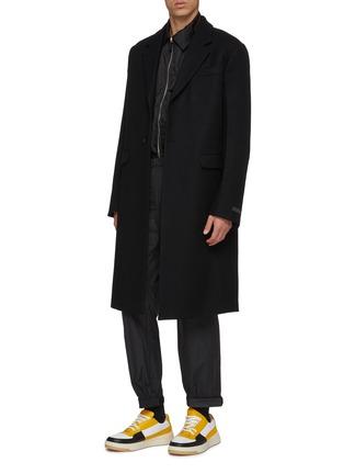 Figure View - Click To Enlarge - PRADA - Wool melton coat