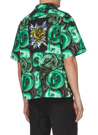 Back View - Click To Enlarge - PRADA - Frankenstein print boxy bowling shirt