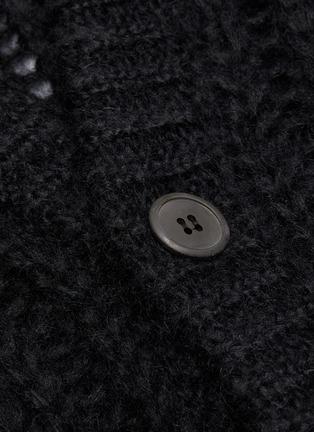 - PRADA - Mohair blend open knit cardigan