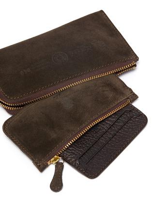 Detail View - Click To Enlarge - FELISI - Three-in-one tassel suede zip around wallet