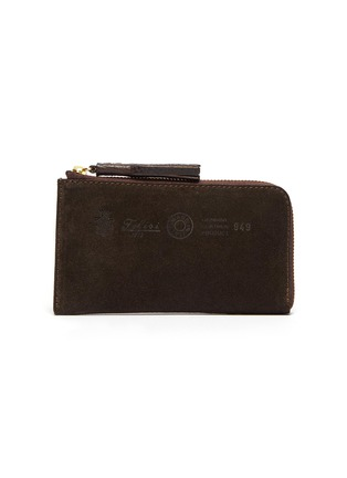 Main View - Click To Enlarge - FELISI - Three-in-one tassel suede zip around wallet