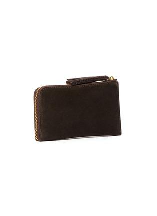 Figure View - Click To Enlarge - FELISI - Three-in-one tassel suede zip around wallet