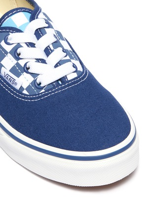 Detail View - Click To Enlarge - VANS - 'Authentic' checkerboard panel canvas sneakers