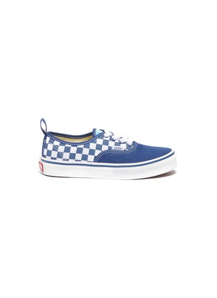 Main View - Click To Enlarge - VANS - 'Authentic' checkerboard panel canvas sneakers