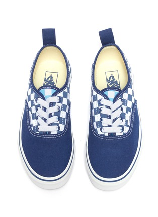 Figure View - Click To Enlarge - VANS - 'Authentic' checkerboard panel canvas sneakers