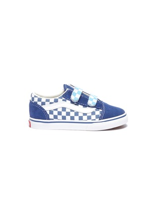 Main View - Click To Enlarge - VANS - 'Old Skool V' checkerboard canvas toddler sneakers
